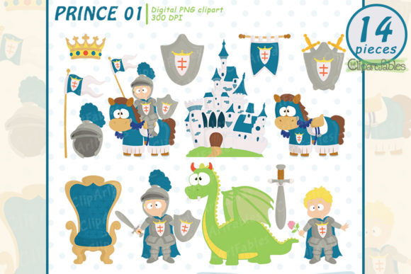 Cute Knight Clipart, Fairy Tale Clip Art Graphic Illustrations By clipartfables