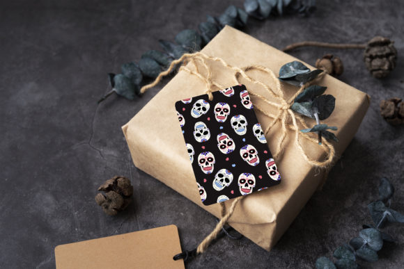 Print on Demand: Day of the Dead Sugar Skull Pattern Graphic Patterns By jannta - Image 7