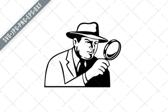 Print on Demand: Detective Inspector Private Eye Graphic Illustrations By patrimonio