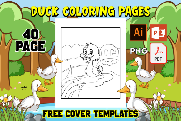 Print on Demand: Duck Coloring Pages for Kids Graphic Coloring Pages & Books Kids By Fox Design Studio