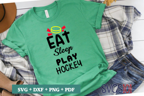 Eat Sleep Play Hockey Graphic Crafts By svgs101