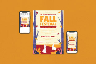 Fall Festival Flyer Set Graphic Print Templates By ihsanshihab.design
