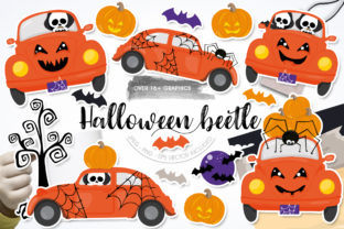 Print on Demand: Halloween Beetle Graphic Graphic Templates By Prettygrafik