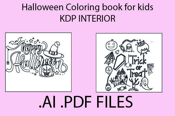 Print on Demand: Halloween Coloring Book for Kids KDP Graphic KDP Interiors By KDP_Interior_101