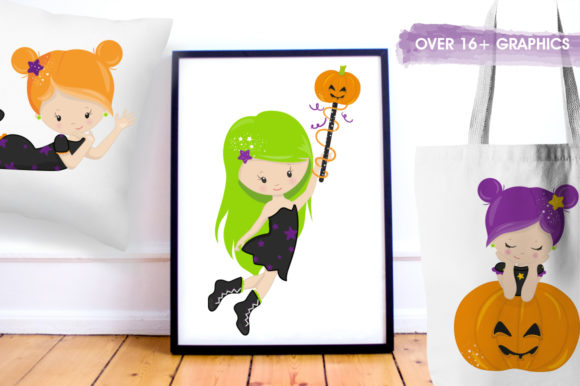 Halloween Girls Graphic Preview
