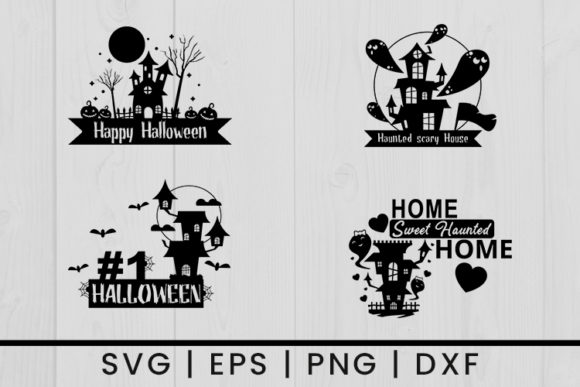 Print on Demand: Halloween Haunted House Graphic Crafts By damasyp