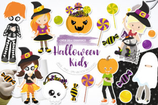 Print on Demand: Halloween Kids Graphic Graphic Templates By Prettygrafik