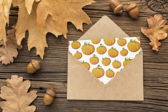 Print on Demand: Halloween Pumpkins and Ghost Pattern Graphic Patterns By jannta - Image 6