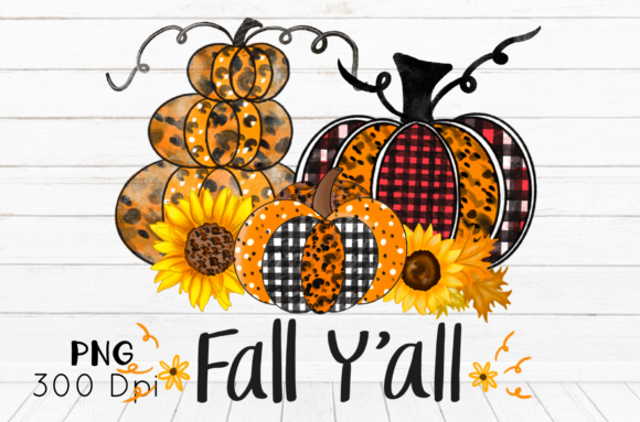 Halloween Sublimation Fall Y'all Graphic