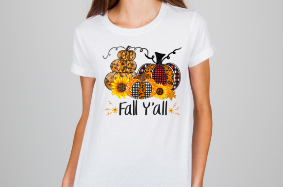 Halloween Sublimation Fall Y'all Graphic Download