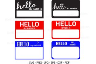 Hello My Name is Graphic Crafts By RedCreations