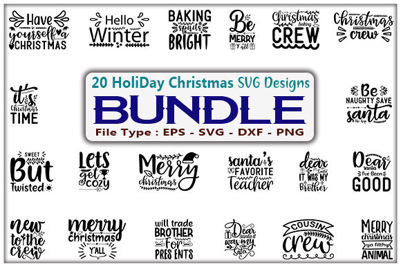 HoliDay Design Bundle Graphic Print Templates By creative_store