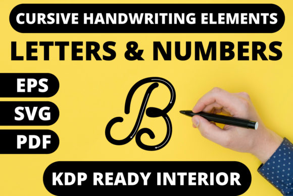 Print on Demand: KDP | Cursive Handwriting Workbook Graphic KDP Interiors By MikeToon Studio