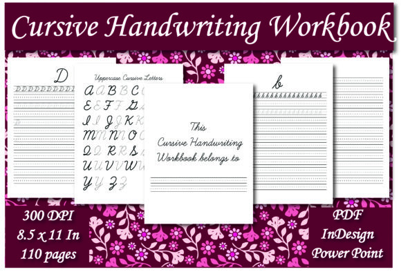 Print on Demand: KDP Cursive Handwriting Workbook Graphic KDP Interiors By Ivana Prue