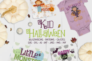 Print on Demand: Kids Halloween Cut Files Pack Graphic Graphic Crafts By arausidp