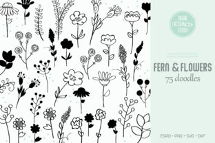 Meadow Ferns & Wild Flowers | Narute Graphic Illustrations By Digital_Draw_Studio