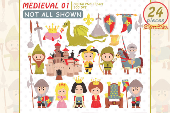 Medieval Clipart, Fairy Tale Clip Art Graphic Illustrations By clipartfables