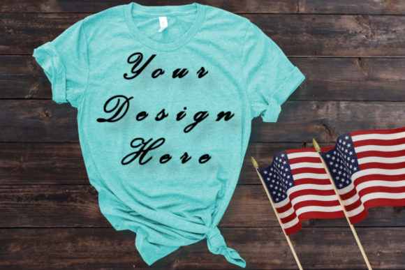 Mockups Light Blue T-shirt, Flat Lay Graphic Product Mockups By MockupsByGaby
