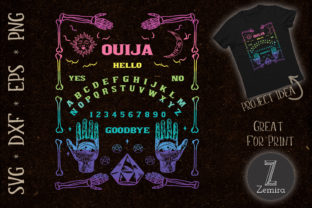 Print on Demand: Ouija Board Goth Witchcraft Witch Wicca Graphic Print Templates By Zemira