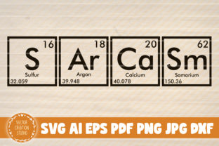 Print on Demand: Sarcasm Periodic Table Graphic Graphic Templates By VectorCreationStudio