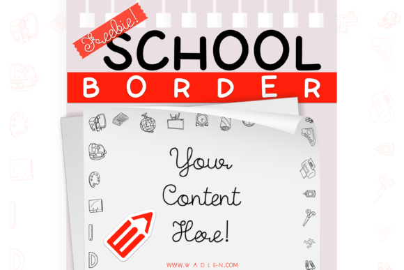 School Border Template Graphic Print Templates By WADLEN