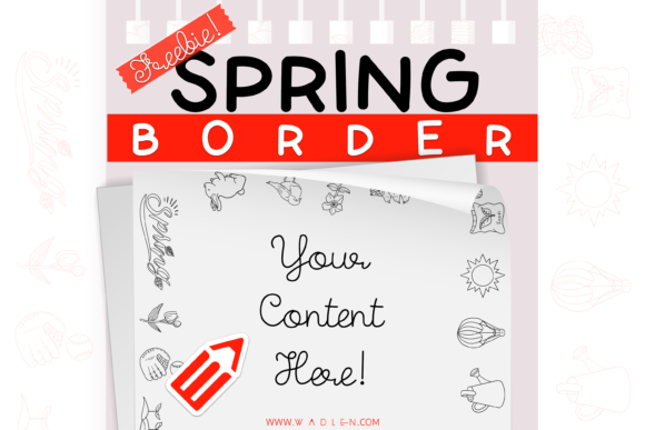 Spring Border Template Graphic Print Templates By WADLEN