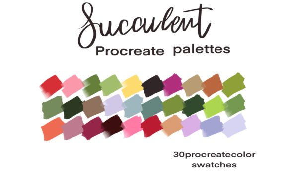 Succulent Palettes Swatches Graphic Add-ons By Poycl Jazz