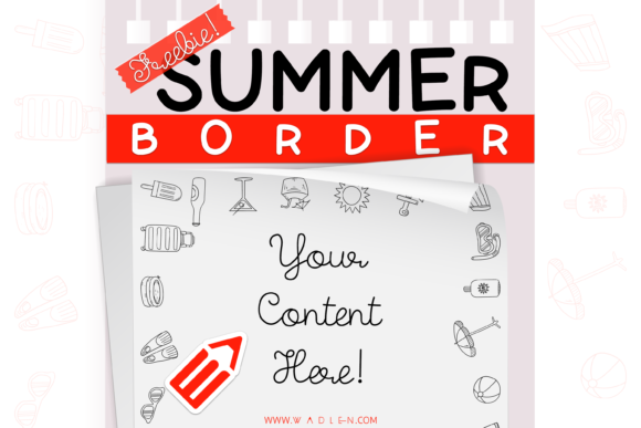 Summer Border Template Graphic Print Templates By WADLEN
