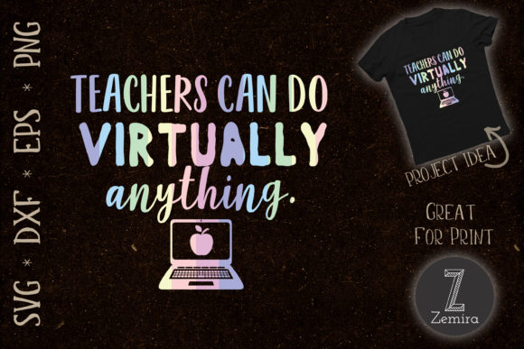 Print on Demand: Teachers Can Do Virtually Anything Graphic Print Templates By Zemira