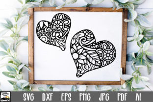 Print on Demand: Two Hearts Mandala Graphic Crafts By oldmarketdesigns