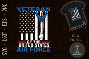 Print on Demand: Veteran of the United States Air Force Graphic Print Templates By Zemira