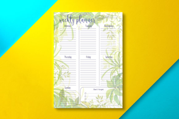 Weekly Planner Summer Graphic KDP Interiors By Nickkey Nick
