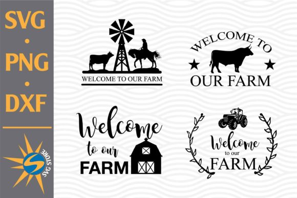 Print on Demand: Welcome to Our Farm Graphic Crafts By SVGStoreShop