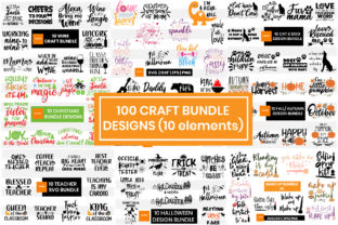 Print on Demand: 100 Craft Bundle Designs Graphic Crafts By Maumo Designs