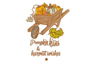Pumpkin Kisses and Harvest Wishes Fall Craft Cut File By Creative Fabrica Crafts