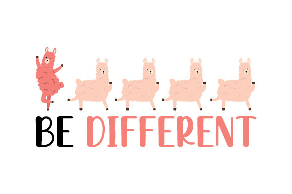 Be Different Diseños y Dibujos Archivo de Corte Craft Por Creative Fabrica Crafts