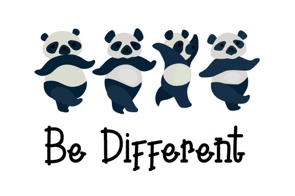 Be Different Designs & Drawings Craft Cut File By Creative Fabrica Crafts