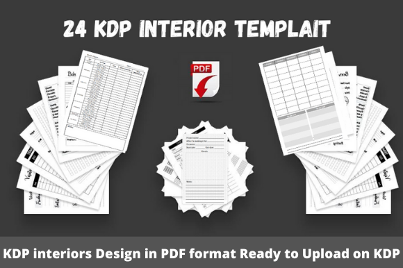 Print on Demand: 24 KDP Interior Templait Ready to Upload Graphic KDP Interiors By Tatus Brinal