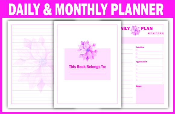 Print on Demand: 365 Days Daily Planner Ready for KDP Graphic KDP Interiors By Fayne