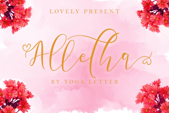 Print on Demand: Alletha Script & Handwritten Font By yogaletter6