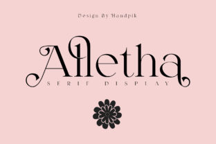 Print on Demand: Alletha Serif Font By handpik