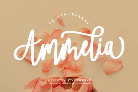 Print on Demand: Ammelia Script & Handwritten Font By Vunira
