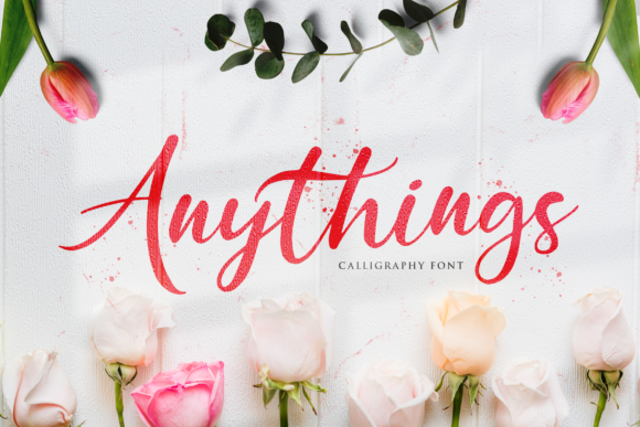 Print on Demand: Anythings Script & Handwritten Font By StringLabs