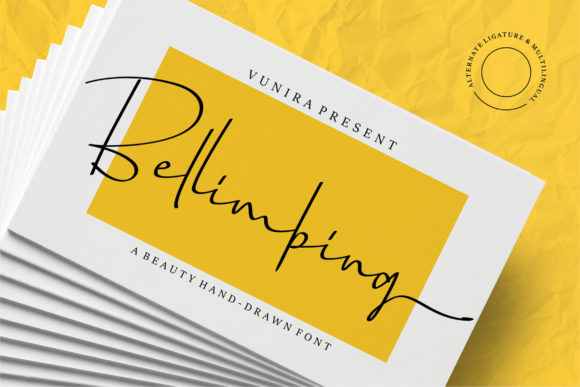 Print on Demand: Bellimbing Script & Handwritten Font By Vunira