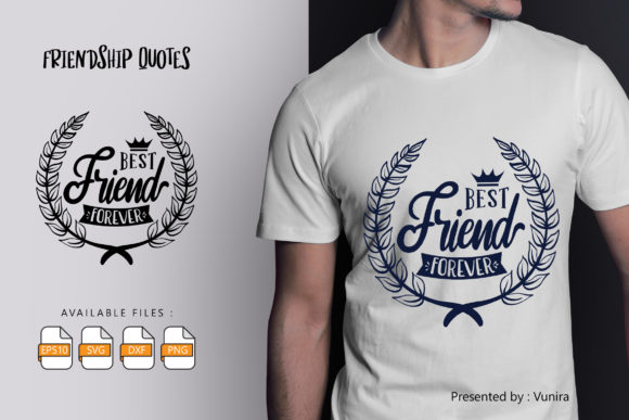 Print on Demand: Best Friend Forever | Lettering Quotes Gráfico Crafts Por Vunira