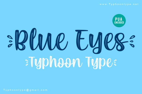 Print on Demand: Blue Eyes Script & Handwritten Font By Typhoon Type - Suthi Srisopha