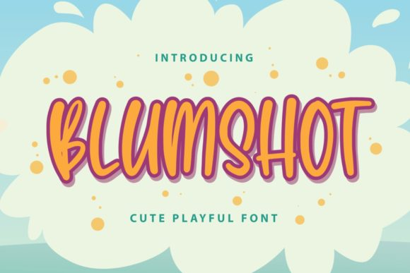 Print on Demand: Blumshot Script & Handwritten Font By Typefar
