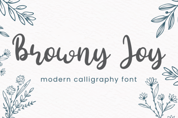 Print on Demand: Browny Joy Script & Handwritten Font By attypestudio