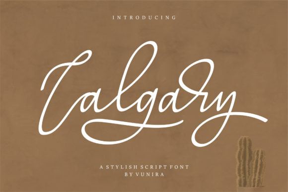 Print on Demand: Calgary Script & Handwritten Font By Vunira