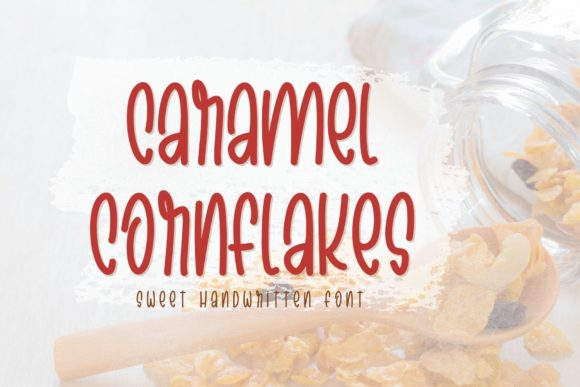 Print on Demand: Caramel Cornflakes Script & Handwritten Font By AllaCreativa